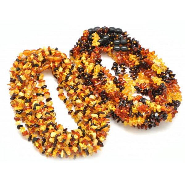 20 Baltic amber chip teething necklaces-ATN096