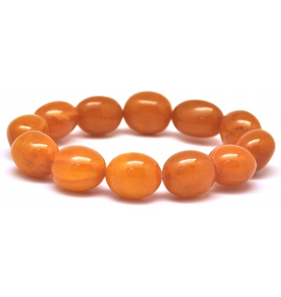Antique color amber olive shape bracelet