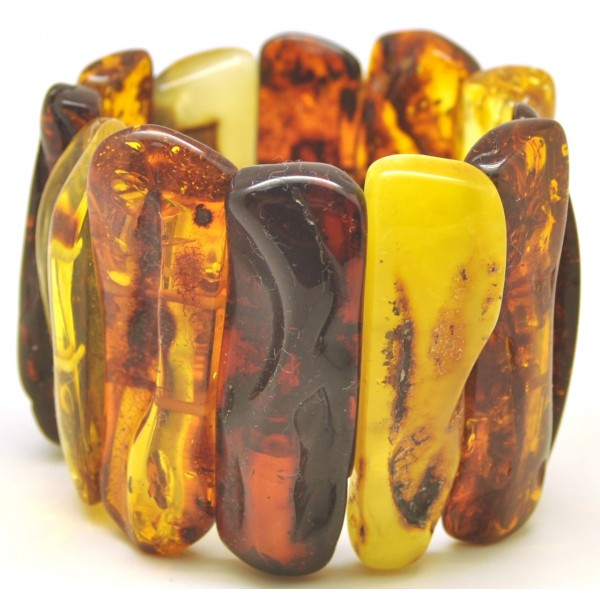 Natural shapes  Baltic amber bracelet