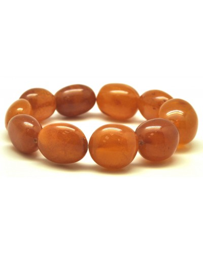 Baltic amber antique big beads bracelet
