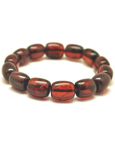 Cherry barrel shape Baltic amber bracelet