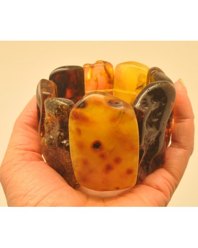 Natural shapes  Baltic amber bracelet 117 g.