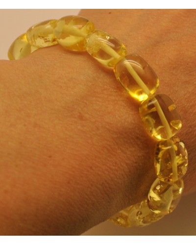 Natural transparent amber bracelet