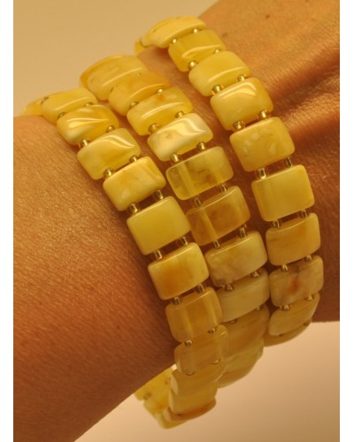 Lot of 3 elastic Baltic amber bracelets