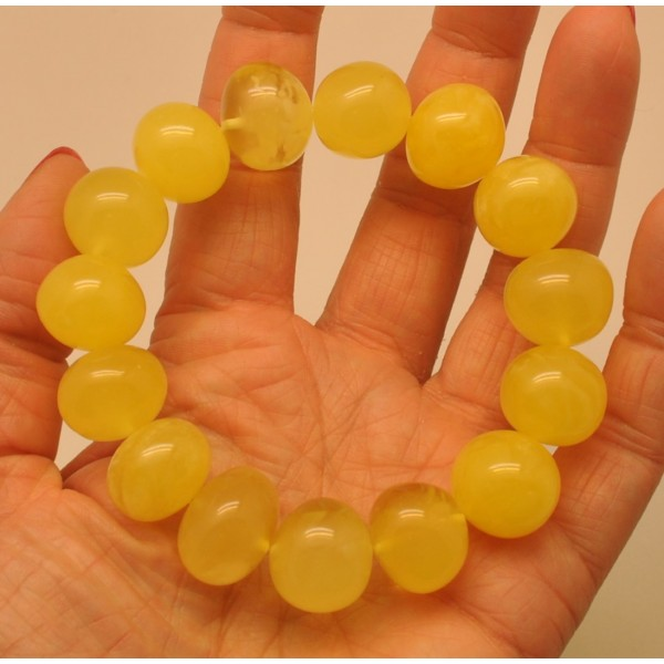 Amber bracelets | Natural yellow baroque beads amber bracelet