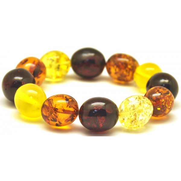 Multicolor amber beads bracelet-AB2733