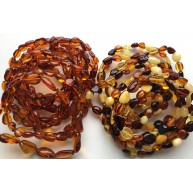 20 Beans shape amber bracelets-AB2993