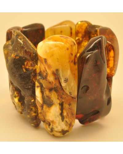 Massive natural shapes Baltic amber bracelet 154 g.