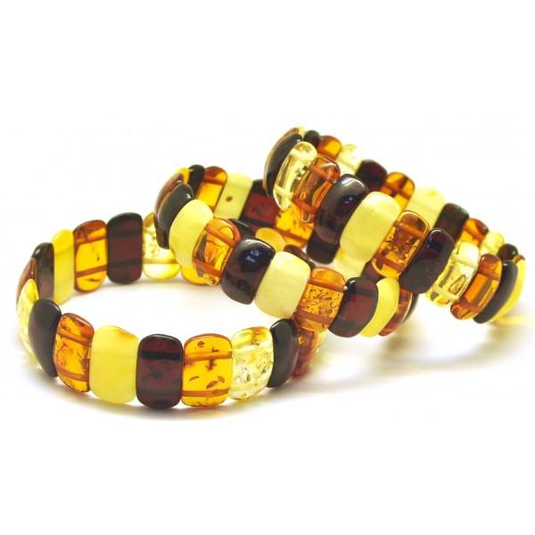 Amber bracelets | Lot of 3 classic Baltic amber bracelets