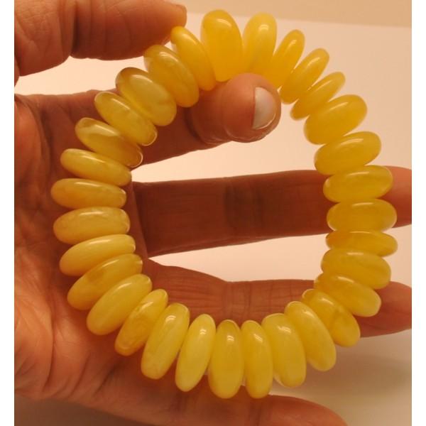 Yellow  Baltic amber elastic bracelet
