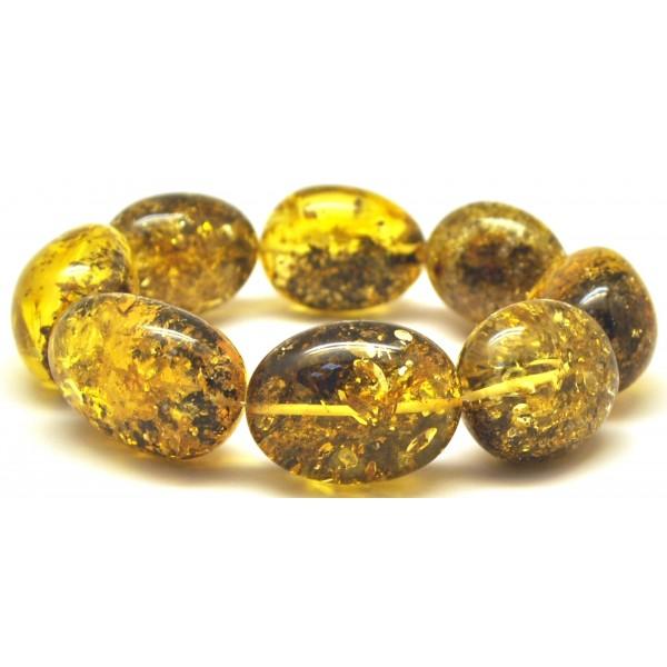 Amber bracelets | Big beads amber bracelet