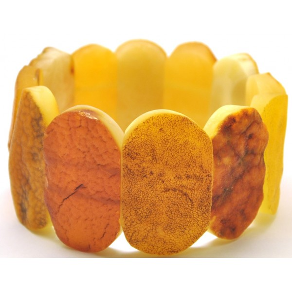 Amber bracelets | Raw classic multicolor Baltic amber bracelet