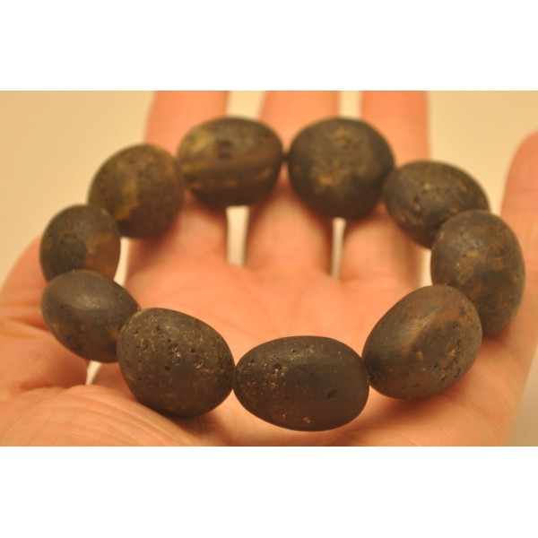 Raw Baltic amber bracelet