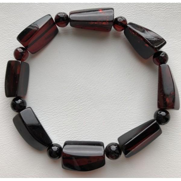 Amber bracelets | Faceted beads amber bracelet