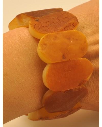 Raw classic Baltic amber bracelet