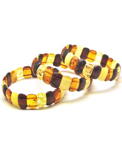 Lot of 3 classic Baltic amber bracelets