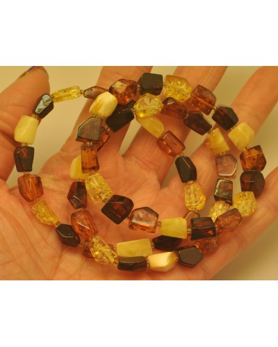Lot of 3 faceted  beads Baltic amber bracelets