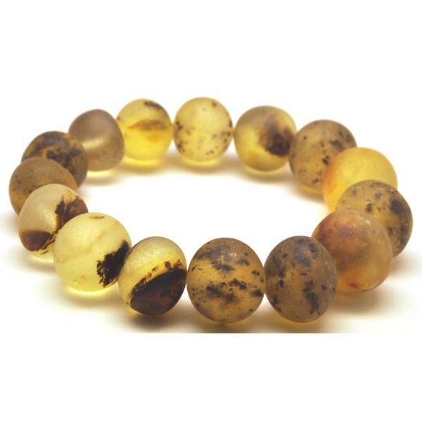 Raw healling baroque beads Baltic amber bracelet