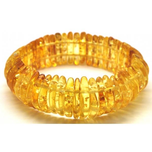 Amber bracelets | Transparent Baltic amber elastic bracelet