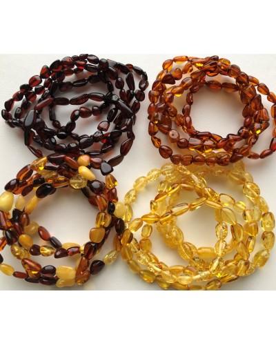 20 Beans shape amber bracelets