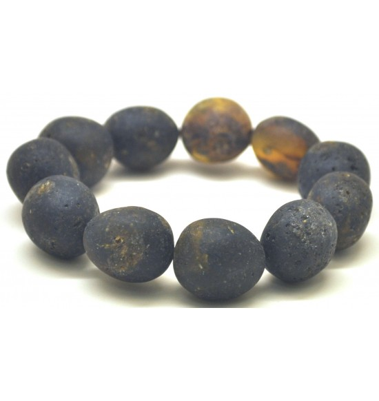 Raw healling big beads Baltic amber bracelet