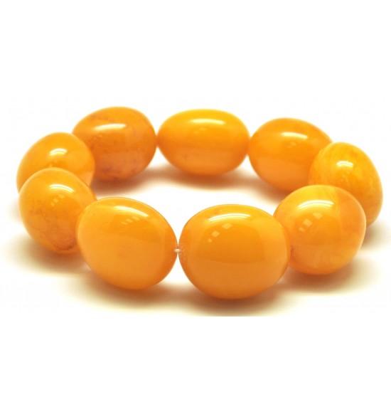 Big beads antique color amber bracelet