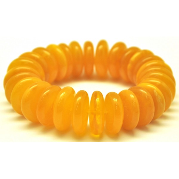 Antique Baltic amber elastic bracelet-AB2968