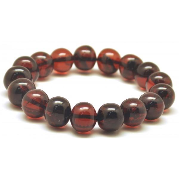 Baroque beads cherry Baltic amber bracelet-AB2923