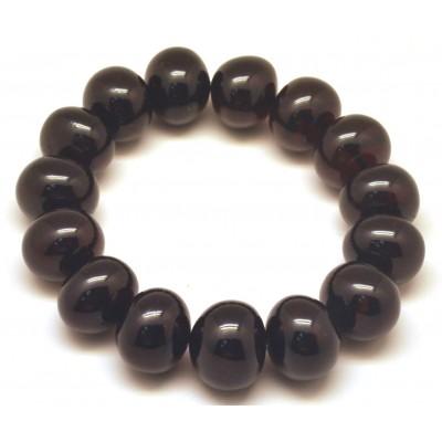 Baroque beads cherry Baltic amber bracelet