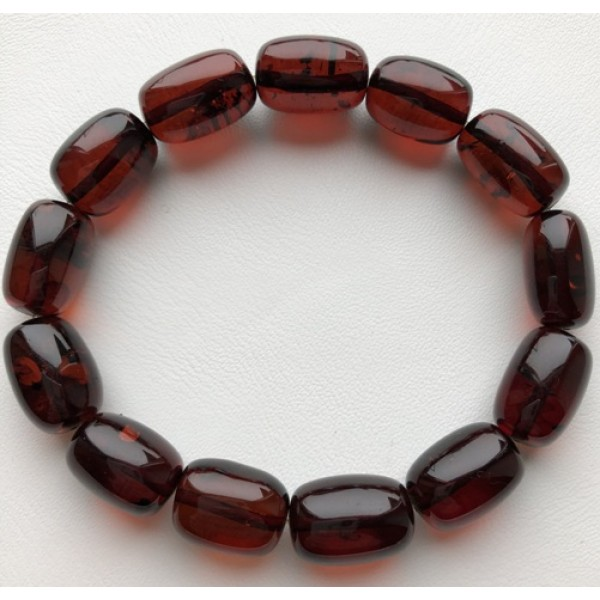 Barrel shape amber bracelet-AB2937