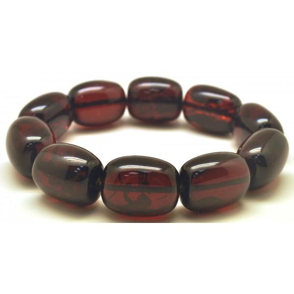 Barrel shape amber bracelet-AB3002