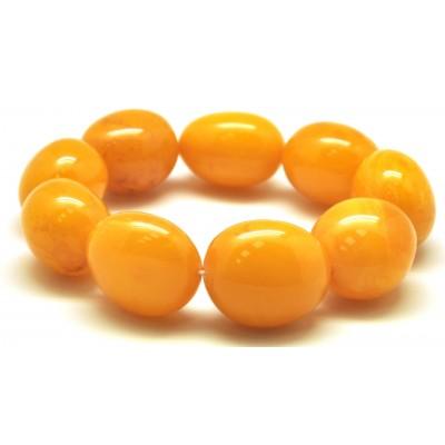 Big beads antique color amber bracelet-AB3005