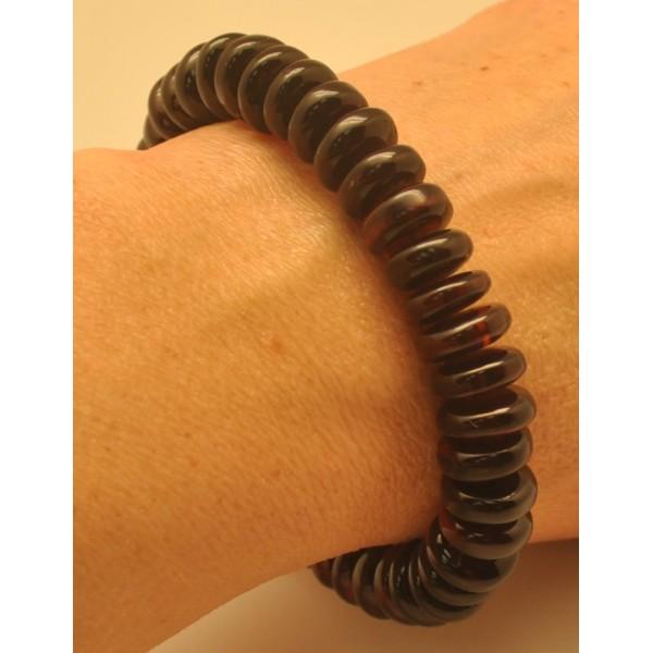 Cherry Baltic amber elastic bracelet-AB3004