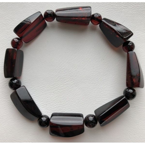 Faceted beads amber bracelet-AB2954