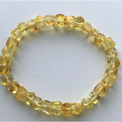 Faceted beads Baltic amber bracelet-AB2984