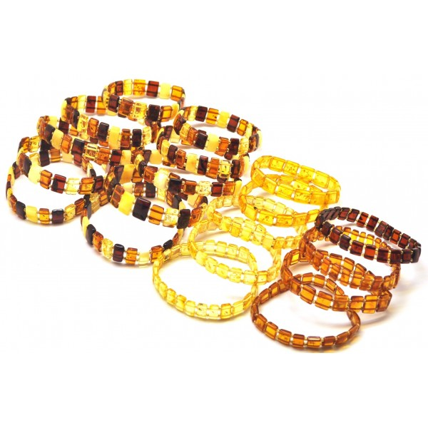 Lot of 20 elastic amber bracelets-AB2927