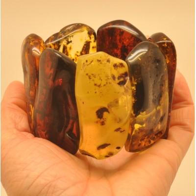 Natural shapes  amber bracelet 140 g.
