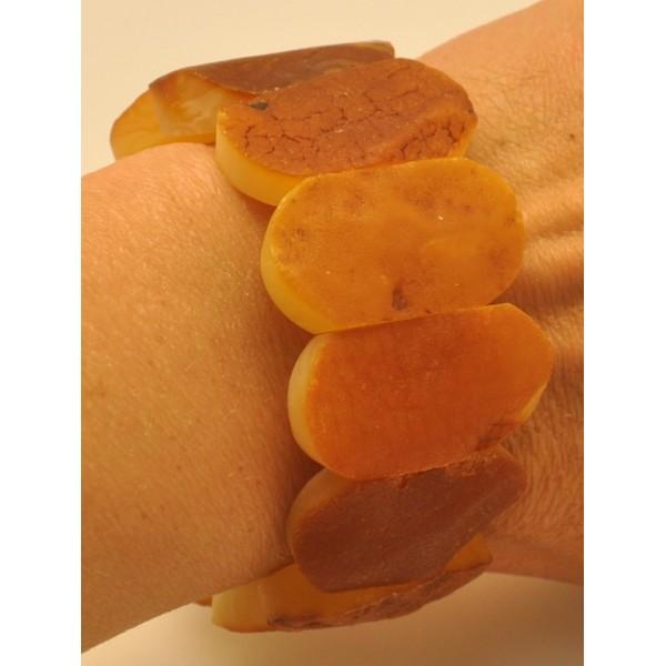 Raw classic Baltic amber bracelet-AB2956