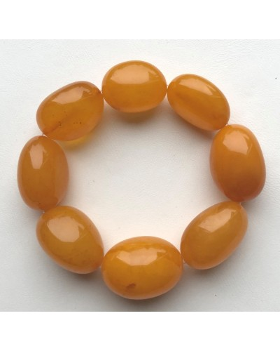 Big beads antique color amber bracelet