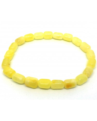 Real Genuine Natural Baltic Amber beads elastic bracelet