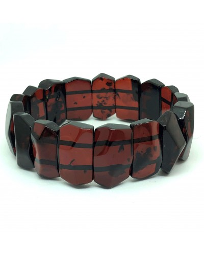 Faceted cherry color Baltic Amber bracelet