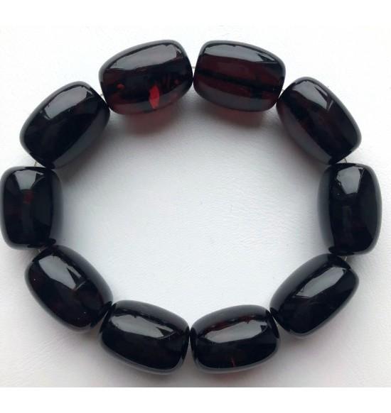Big cherry barrel shape Baltic amber bracelet