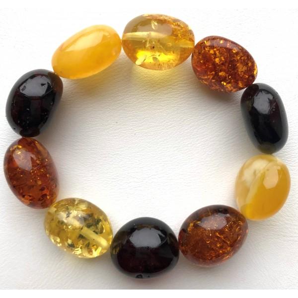 AMBER BRACELET Natural Baltic Amber Big Beads -