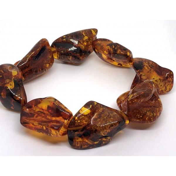 Amber bracelet NATURAL BALTIC AMBER bracelet -AB3033