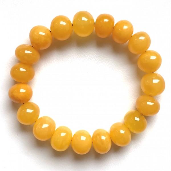 Antique color Baltic amber baroque beads bracelet -