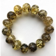BALTIC AMBER Baroque Shape Beads Stretch Bracelet