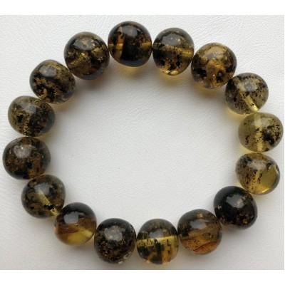 Baroque beads amber bracelet
