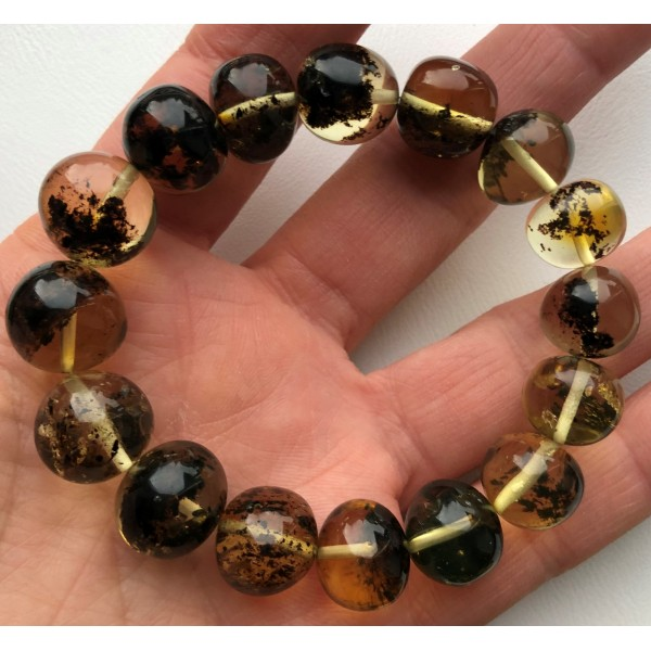 Baroque beads amber bracelet-AB3009