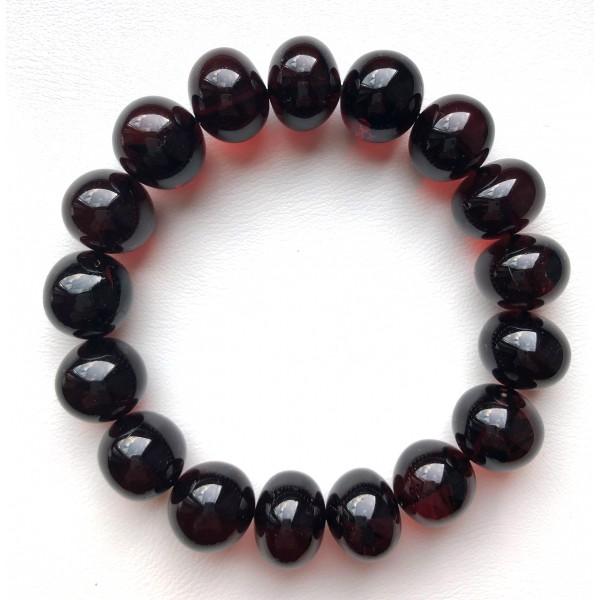 Baroque beads cherry Baltic amber bracelet -