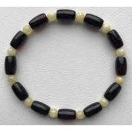 Barrel shape cherry amber bracelet